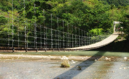 A suspension bridge Royalty Free Stock Photography