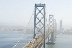 Suspension Bridge. Oakland Bridge, San Francisco, California Stock Photography