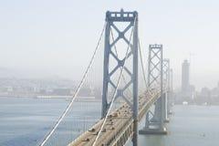 Suspension Bridge. Oakland Bridge, San Francisco, California stock photography