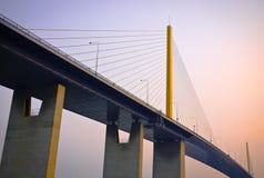 Suspension bridge. Named Rama IX in Bangkok, Thailand Royalty Free Stock Photos