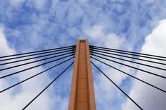Suspension Bridge (3). Part of modern, suspension bridge in Wroclaw (Poland Royalty Free Stock Photo