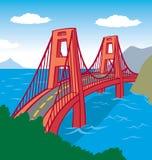 Suspension bridge stock illustration