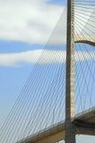 Suspension Bridge. The artfully designed tower of a suspension bridge Royalty Free Stock Images