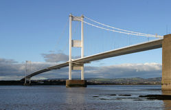 Suspension Bridge. Over the River Severn, England stock photos