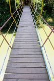 Suspension bridge across a river. Image suspension bridge across a river Royalty Free Stock Photo