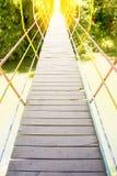Suspension bridge across a river. Image suspension bridge across a river Stock Images