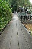 Suspension bridge across the water. At Khao Yai in Korat province, Thailand Stock Images