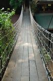 Suspension bridge across the water. At Khao Yai in Korat, Thailand Royalty Free Stock Photos