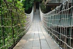 Suspension bridge across the water. At Khao Yai in Korat, Thailand Stock Image