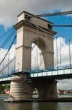 Suspension bridge in alfortville Royalty Free Stock Image