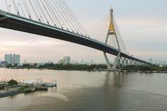 Suspension Bridge Bangkok Thailand Stock Photos