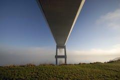 Suspension bridge from below Stock Photos