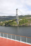 Suspension bridge in Bergen Stock Image