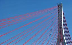 Suspension bridge on blue sky Royalty Free Stock Photos