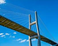 Suspension Bridge Cloudscape stock photo