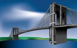 Suspension Bridge, Brooklyn Bridge Royalty Free Stock Photo