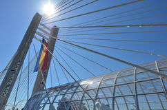 Suspension bridge, Bucharest Stock Image