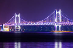Suspension bridge in Busan Royalty Free Stock Image