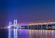 Suspension bridge in Busan Royalty Free Stock Photography