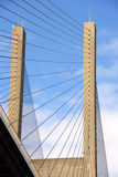 Suspension Bridge Cables. Strength and precision of suspension cables Royalty Free Stock Photos