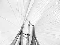 Suspension bridge cables Royalty Free Stock Photo