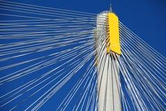Suspension bridge with cables Stock Photo