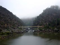 Suspension Bridge in Cataract Gorge stock images