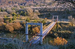 Suspension Bridge in Chilean Patagonia Stock Image