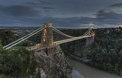 Clifton Suspension Bridge [Bristol, United Kingdom. Clifton Suspension Bridge in Bristol, United Kingdom after Sunset Stock Image