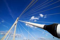 Suspension Bridge Contemporary Shape Stock Images