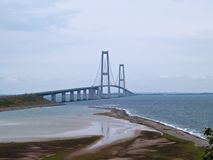 Suspension bridge Denmark Stock Photography