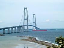 Suspension bridge Denmark Royalty Free Stock Photo