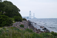 Suspension bridge Denmark Stock Images