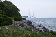 Suspension bridge Denmark Stock Images