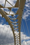 Suspension bridge detail Royalty Free Stock Photo