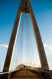 Suspension bridge detail Royalty Free Stock Images