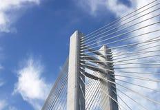 Suspension bridge detail - RAW format Royalty Free Stock Image