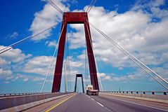 Suspension Bridge Drive royalty free stock image