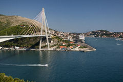 Suspension bridge in Dubrovnik, Croatia Stock Photo