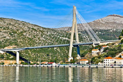 Suspension Bridge in Dubrovnik Royalty Free Stock Photo