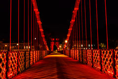 Suspension bridge, Glasgow, Scotland, UK Stock Photos