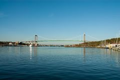 Bridge in Göteborg Sweden. Suspension bridge in Gothenburg,Sweden royalty free stock photos
