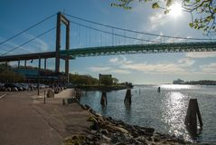 Bridge in Göteborg Sweden. Suspension bridge in Gothenburg,Sweden royalty free stock photo
