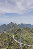 Suspension bridge, Gunung Machinchang, Langkawi Stock Image