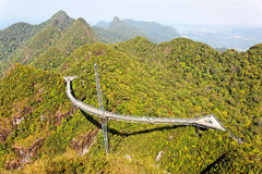 Suspension bridge, Gunung Mat Cincang, Langkawi Royalty Free Stock Photos