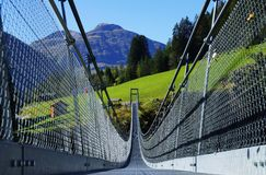 Suspension Bridge Holzgau Stock Image