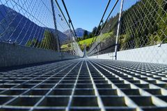 Suspension Bridge Holzgau Royalty Free Stock Image