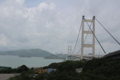 Suspension bridge in Hong Kong Stock Photography