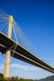 Suspension bridge in Hong Kong Stock Photography
