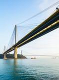 Suspension bridge in Hong Kong Stock Images